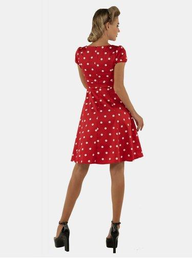 Červené bodkované šaty Dolly & Dotty Claudia