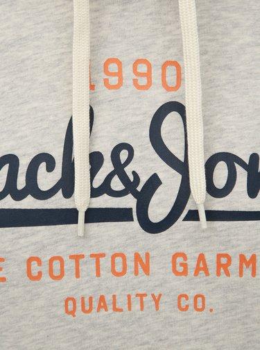 Vínovo-šedá mikina Jack & Jones Contrast