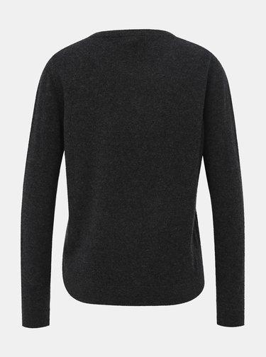 Tmavě šedý kašmírový basic svetr Selected Femme Aya