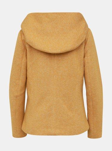 Žltý žíhaný krátky kabát ONLY Sedona
