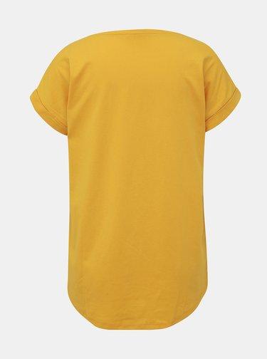 Žlté basic tričko VILA Dreamers