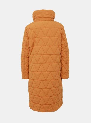 Horčicový zimný kabát VILA Jaxie