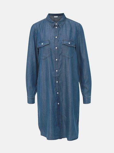 Modré košilové šaty VILA Suster