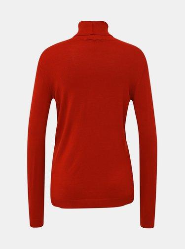 Červený basic sveter s rolákom VILA Bolonia