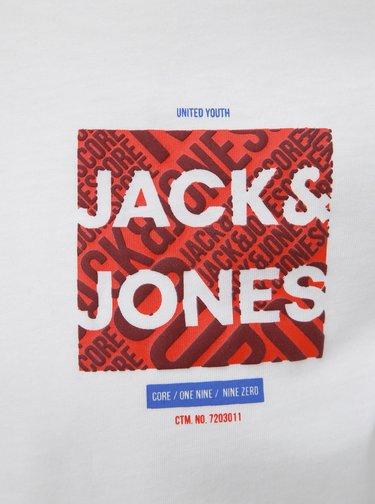 Biela slim fit polokošeľa Jack & Jones CORE Foni