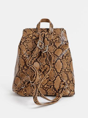 Hnědý batoh s hadím vzorem Pieces Irina