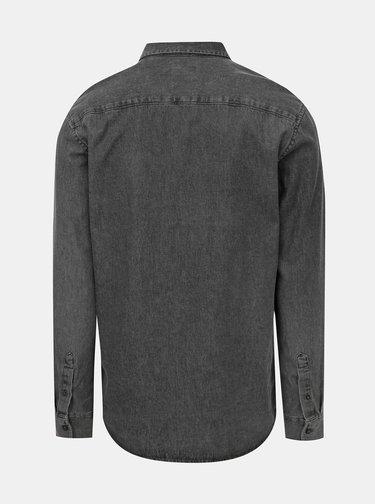 Šedá slim fit rifľová košeľa ONLY & SONS Basic