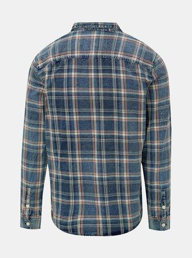 Modrá kockovaná košeľa ONLY & SONS Storm