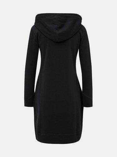 Čierne mikinové šaty so zipsom ONLY Bree