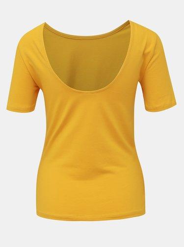 Žluté basic tričko Noisy May Elena