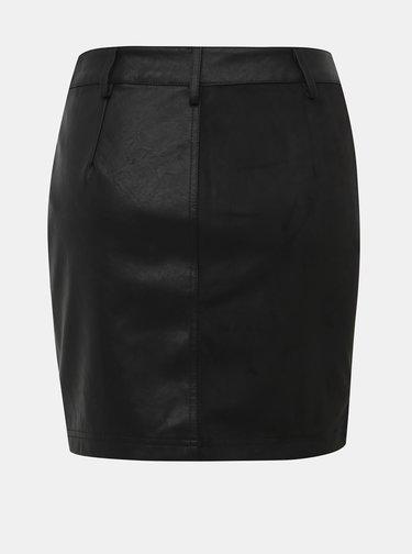 Čierna koženková sukňa Noisy May