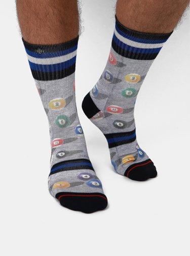 Šedé pánské vzorované ponožky XPOOOS