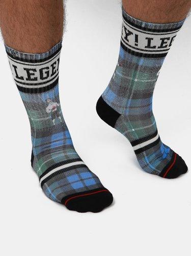 Zeleno-modré pánské kostkované ponožky XPOOOS