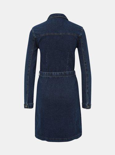 Tmavě modré džínové košilové šaty Jacqueline de Yong Sanna