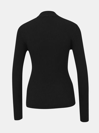 Čierny dámsky rebrovaný sveter Alcott