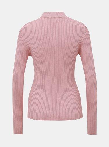 Rúžový dámsky rebrovaný sveter Alcott