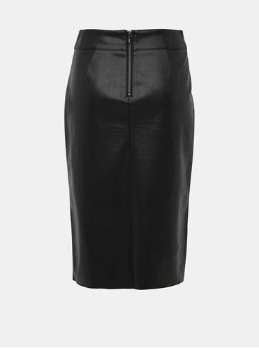 Černá koženková sukně Dorothy Perkins