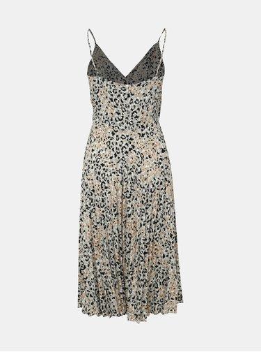 Šedé midi šaty s leopardím vzorom Dorothy Perkins