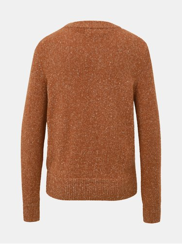 Hnedý vzorovaný sveter VERO MODA Akua