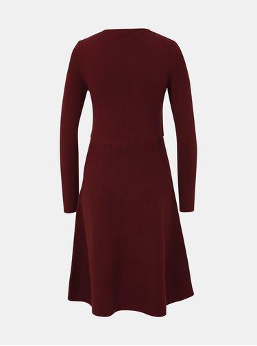Vínové svetrové šaty VERO MODA Nancy