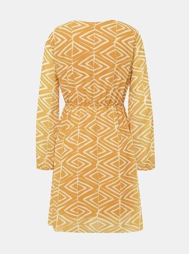 Horčicové vzorované šaty Haily´s Lara