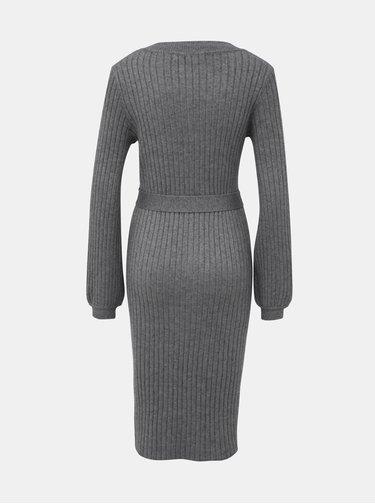 Šedé svetrové šaty VERO MODA Svea