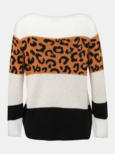 Bílý dámský svetr s leopardím vzorem Haily´s Sloan