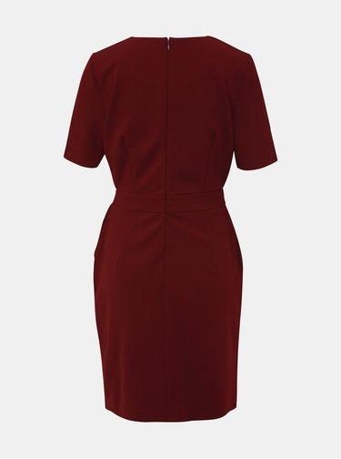 Vínové púzdrové šaty VERO MODA Corine