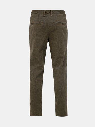 Hnědé slim fit kalhoty Selected Homme Parker