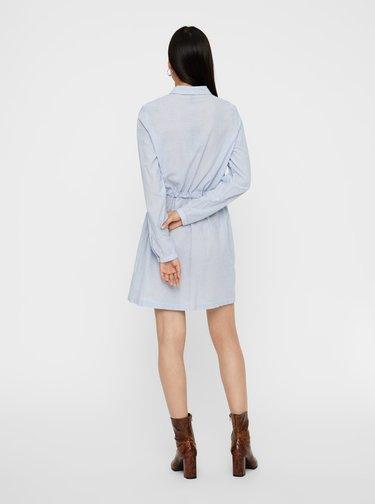 Světle modré pruhované košilové šaty VERO MODA Luca