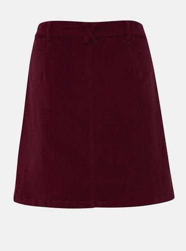 Vínová manšestrová sukně ONLY Global