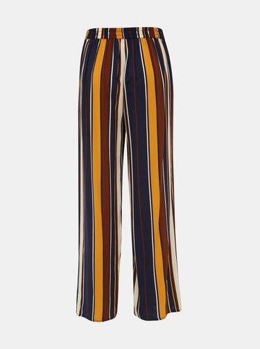 Tmavomodré pruhované nohavice ONLY Nova