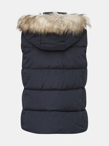 Tmavomodrá zimná prešívaná vesta ONLY North
