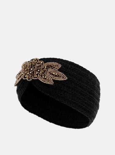 Čierna čelenka s ozdobou v zlatej farbe Haily´s Mimi
