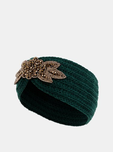 Zelená čelenka s ozdobou v zlatej farbe Haily´s Mimi