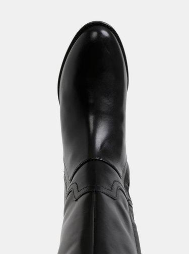 Čierne kožené čižmy Geox Felicity