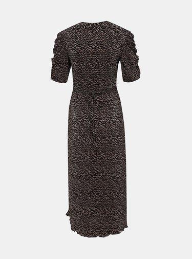 Čierne kvetované midišaty Miss Selfridge