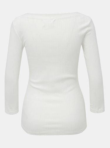 Bílé žebrované tričko Dorothy Perkins