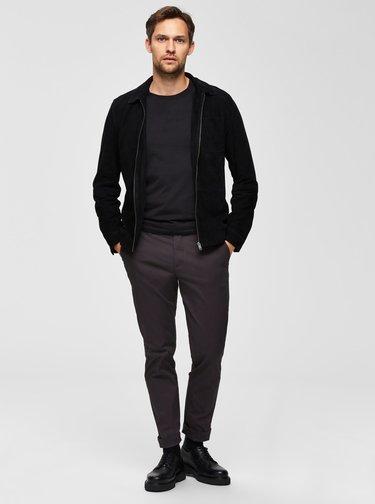 Tmavě šedé slim fit kalhoty Selected Homme Yard