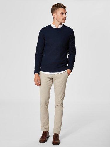 Tmavomodrý sveter Selected Homme New Jeff