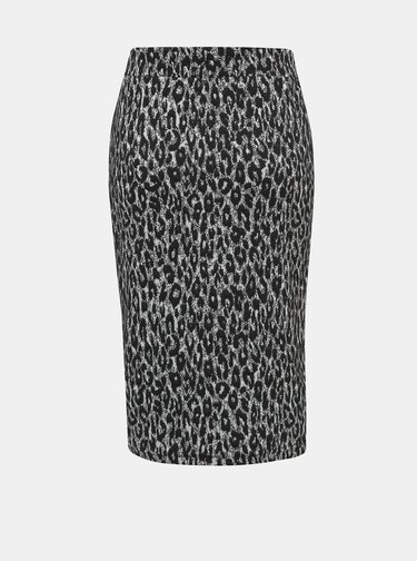 Šedá sukně s leopradím vzorem ONLY Sisi
