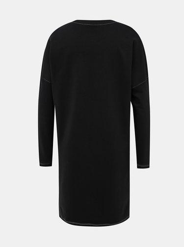Černé mikinové šaty Noisy May Kana