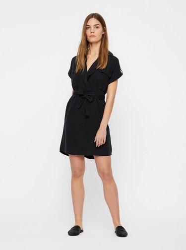 Čierne košeľové šaty Noisy May Vera