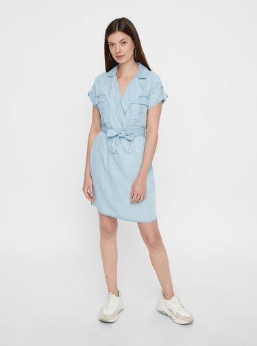 Svetlomodré košeľové šaty Noisy May Vera