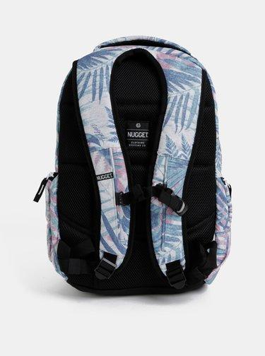 Modrý vzorovaný batoh NUGGET Bradley 24 l