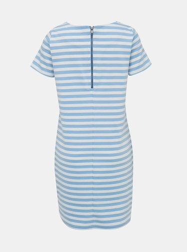 Bílo-modré pruhované basic šaty VILA Tinny