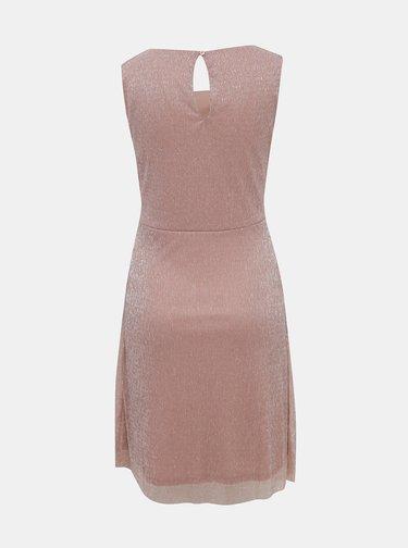 Růžové třpytivé šaty VILA Amos