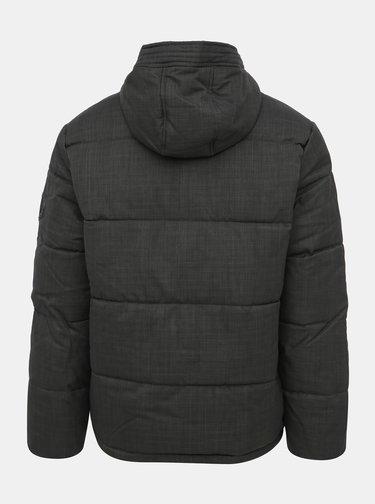 Šedá zimná prešívaná bunda Burton Menswear London