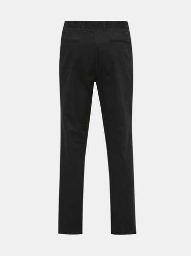 Černé slim fit kalhoty Selected Homme Floyd