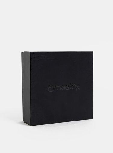 Tmavě hnědý pánský kožený pásek Meatfly Doppler